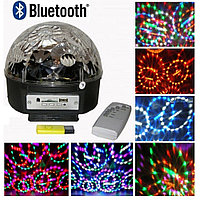 Светодиодный проектор Диско Шар mp3 LED Magic Ball bluetooth