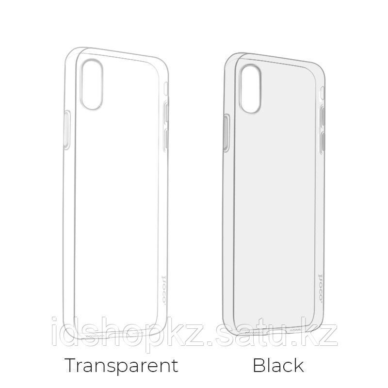 Чехол Hoco Light TPU для iPhone XS, черный - фото 3