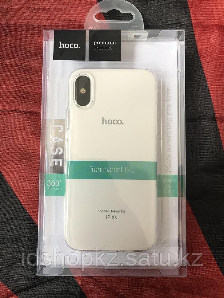 Чехол Hoco Light TPU для iPhone XS, прозрачный - фото 1