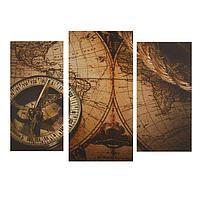"Картина модульная на подрамнике ""Карта"" 2шт-25,5*50,5 см, 30,5*60 см, 60х100 см"