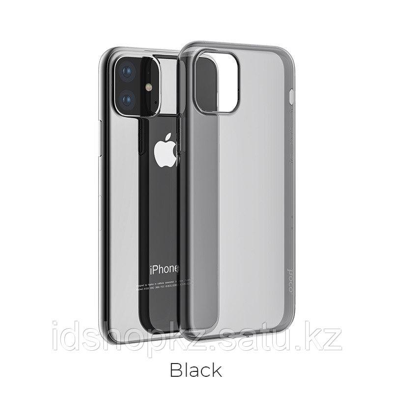Чехол HOCO TPU Light Series для iPhone 11 черный прозрачный, 0,8 мм - фото 1