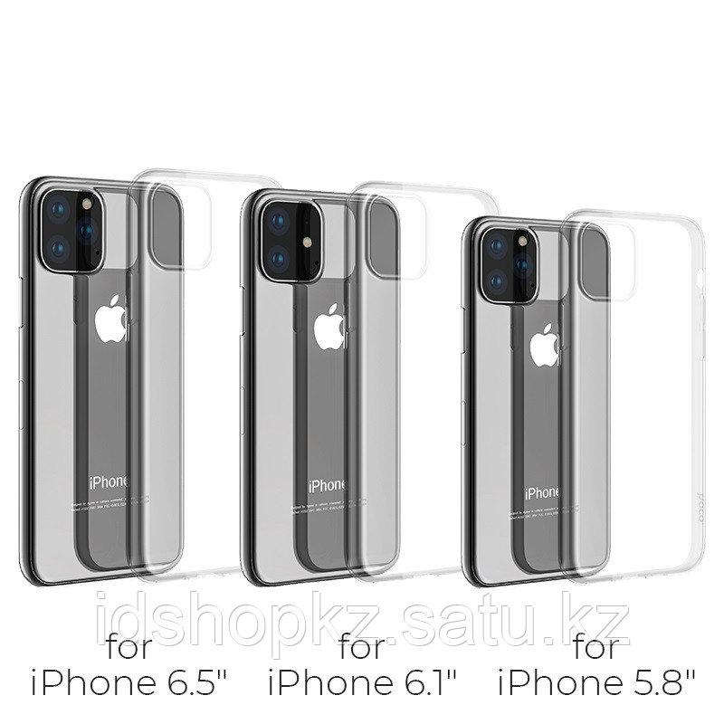 Чехол HOCO TPU Light Series для iPhone 11 черный прозрачный, 0,8 мм - фото 3