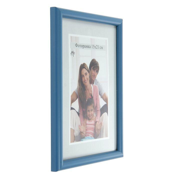 Фоторамка для фото 15х21 см Simple, голубая - фото 2
