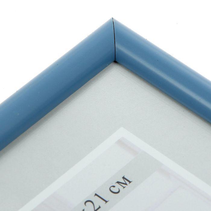 Фоторамка для фото 15х21 см Simple, голубая - фото 3