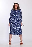Женское летнее синее нарядное большого размера платье Lady Secret 3670 синий 54р.