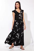 Женское летнее из вискозы платье Nova Line 50117 черный 42р.