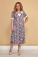 Женское летнее трикотажное большого размера платье Медея и К 2091 60р.