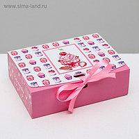 Складная коробка подарочная «Наслаждайся», 16.5 × 12.5 × 5 см