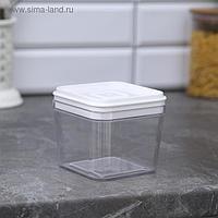 Ёмкость для сыпучих продуктов, 600 мл, цвет прозрачный-белый
