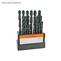 """Набор сверл """"Кратон"""", по металлу, оксидированные, d=1-13 мм, 25 шт"""