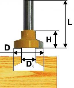 Фреза паз конструкционная ф25,4мм Т-обр хв 12мм