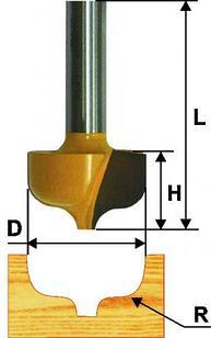 Фреза паз фасонная ф31,3х16мм R6,4мм хв 8мм