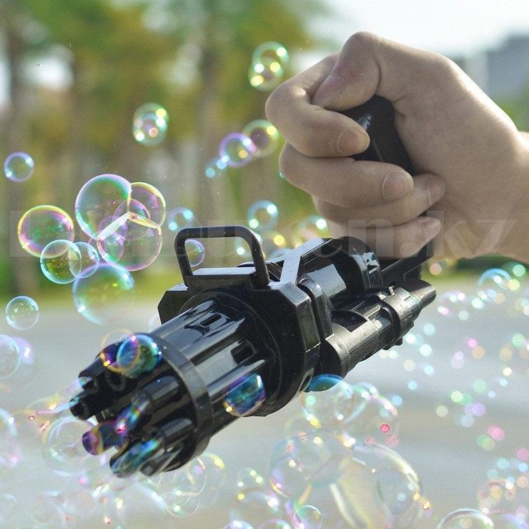 Пистолет с мыльными пузырями на батарейках пластмассовый 20 *9 *7 см в ассортименте - фото 7