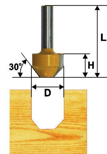 Фреза паз фасонная ф11,9х13мм 45° хв 8мм