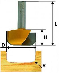 Фреза пазовая фасонная ф28.6х13мм R5мм хв 8мм