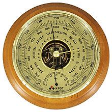 Барометр Утес БТК-СН-14 шлифованное золото с термометром (корпус-дерево, диам.175/130мм, откр.механизм)