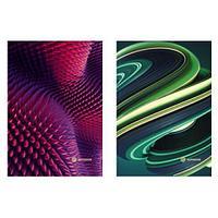 """Блокнот на спирали """"Яркие полоски: розовые, голубые"""", УФ лак, А4, 60 л., клетка (9037/2 -EAC)"""