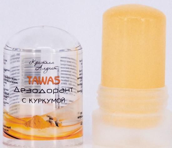Дезодорант Кристалл Алунит с куркумой Tawas 120г