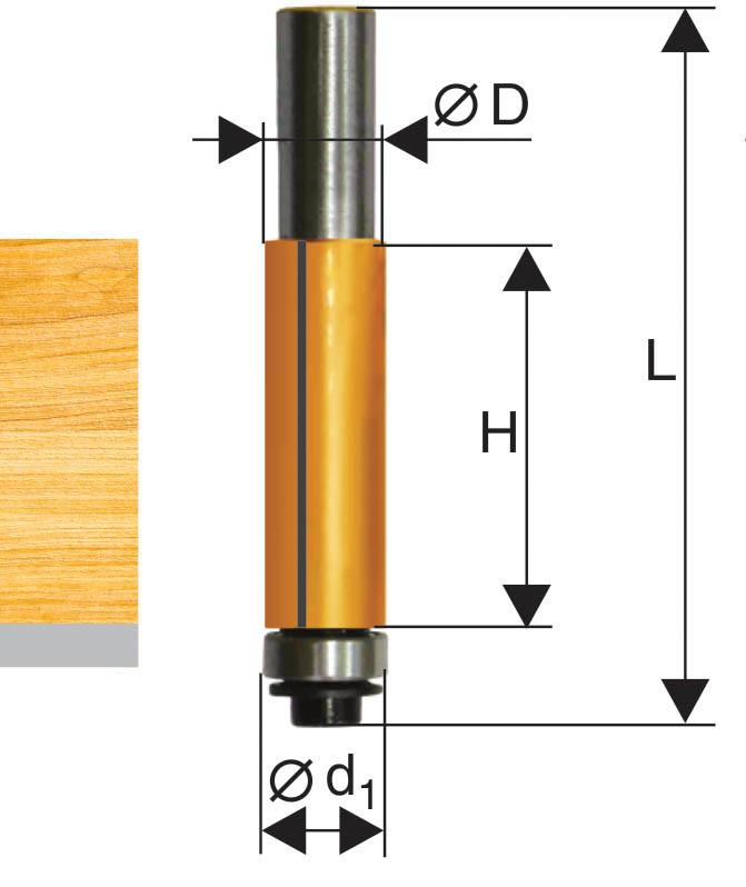 Фреза кромочная прямая ф9,5х25мм хв 8мм