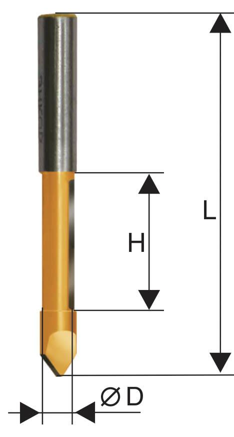 Фреза кромочная прямая ф10х25мм хв 8мм