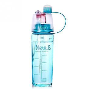 Спортивная бутылка для воды с распылителем Фитнес на совесть!, фото 2
