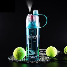 Спортивная бутылка для воды с распылителем Фитнес на совесть!, фото 3