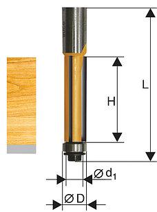 Фреза кромочная прямая ф12,7х25мм хв 12мм