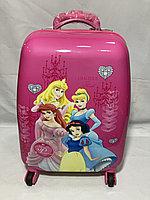 Детский чемодан для девочек на 4-х колесах. Высота 46 см, ширина 30 см, глубина 20 см., фото 1