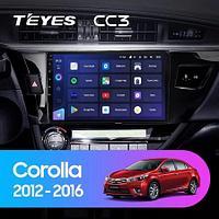 Магнитола Teyes на Андроиде для Toyota Corolla 11 2012-2016
