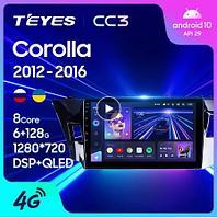 Магнитола Toyota Corolla 11 2012-2016 Teyes CC3, 3+32G