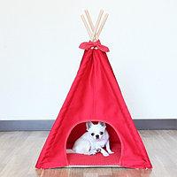 Вигвам для маленьких собак Красный