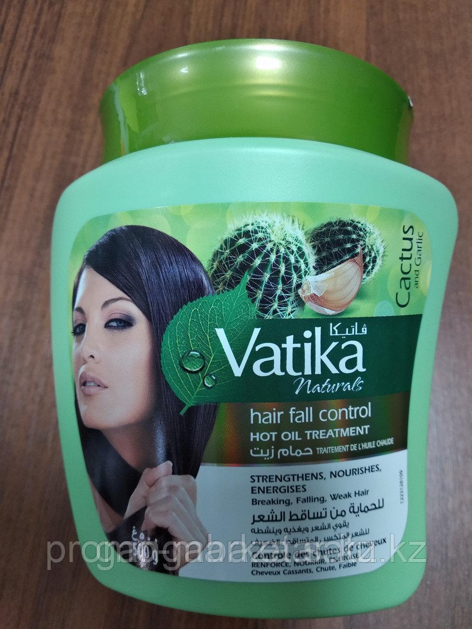 """Маска для волос """"Против выпадения волос"""" кактус, чеснок, кокос. Ватика 500мл"""