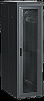 """ITK Шкаф сетевой напольный 19"""" LINEA N 42U 600х1000мм перфорированная передняя дверь черный"""