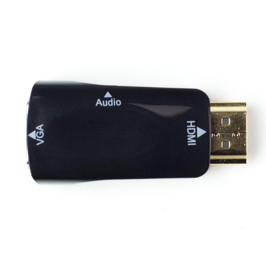С HDMI на VGA конвертер/переходник , аудио-видео белый/чёрный - фото 2