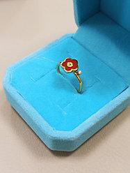 Детское кольцо Roberto Bravo / золото / бриллиант / размер 14,5 (Италия)