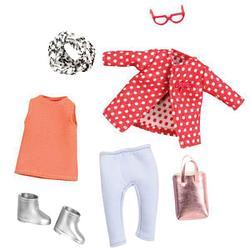 LORI Набор одежды для кукол - Красное пальто с узором LO30014Z