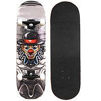 Скейтборды подростковые с узором в нижней части деки 79х20 см BOBO клоун в шляпе