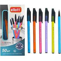 Ручка 0,7 мм Ellot масленные ассорти синяя
