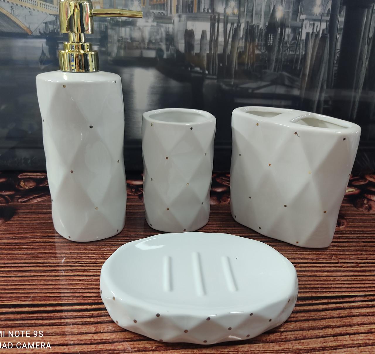Керамический набор для ванной комнаты GLORIA