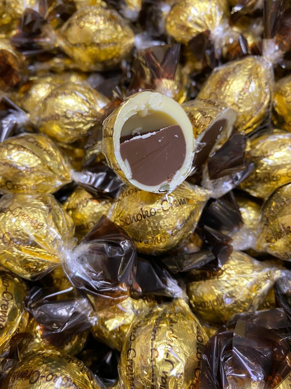 Конфеты Белый шоколад и шоколадный крем  ЗОЛОТЫЕ 1 кг