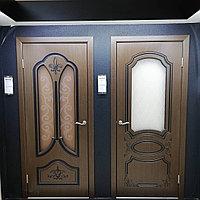 """Межкомнатная дверь """"козачка шпон"""" со стеклом"""