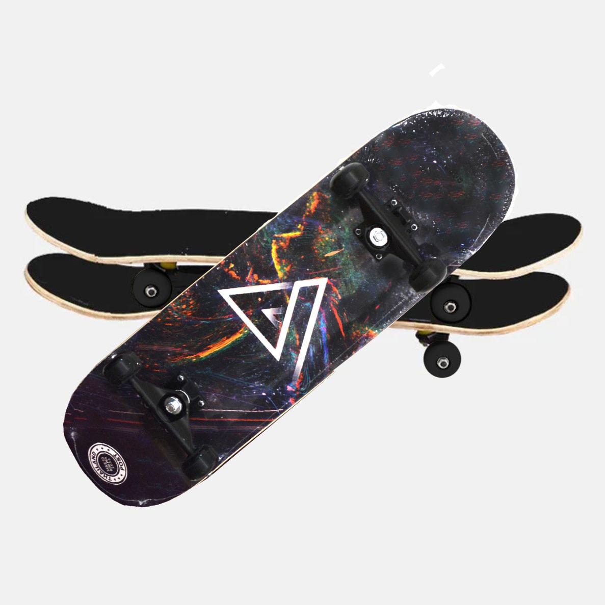 Скейтборды подростковые с узором в нижней части деки 79х20 см BOBO с геометрической фигурой - фото 10