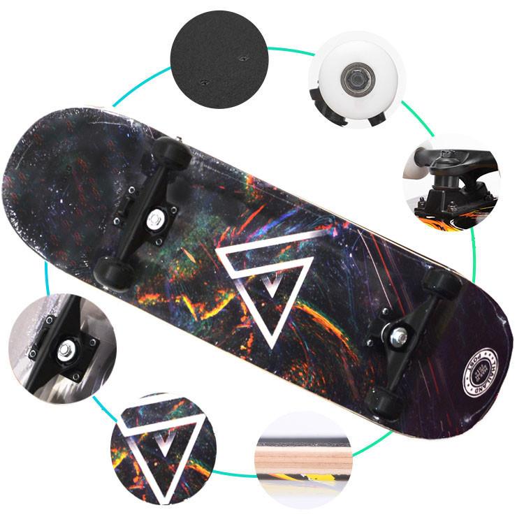 Скейтборды подростковые с узором в нижней части деки 79х20 см BOBO с геометрической фигурой - фото 5
