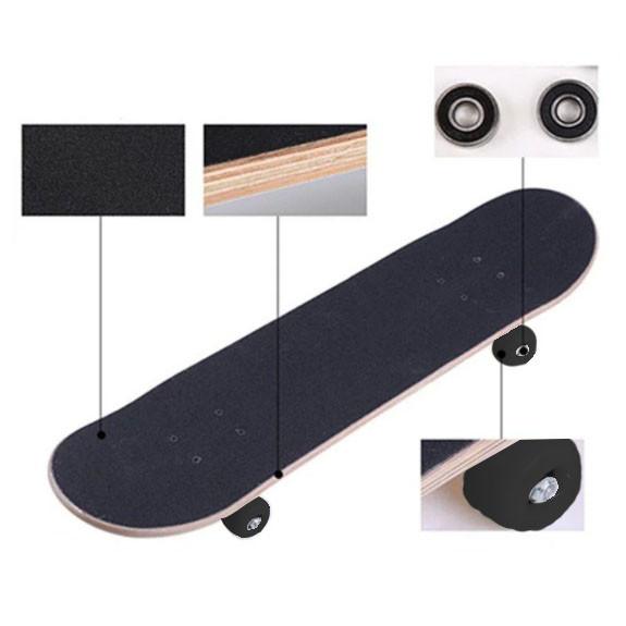 Скейтборды подростковые с узором в нижней части деки 79х20 см BOBO с абстрактным рисунком - фото 4