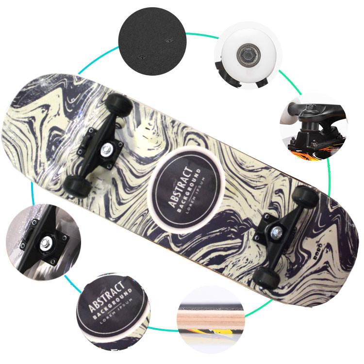 Скейтборды подростковые с узором в нижней части деки 79х20 см BOBO с абстрактным рисунком - фото 5