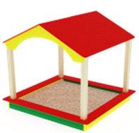 Песочный дворик домик