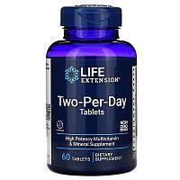 Life Extension, мультивитамины для приема два раза в день, 60 капсул