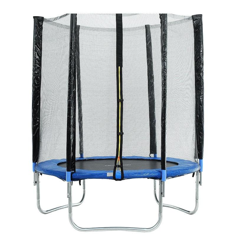 Батут каркасный 10 ft, d=305 см, с внешней защитной сеткой, синий