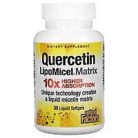 Natural Factors, Кверцетин LipoMicel Matrix, 30 Liquid Softgels