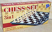 3208 Chess Set Шахматы 3в1 21*11см
